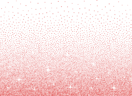 Shiny pink glitter diamond dust over white background