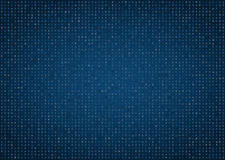 computer code: Blue computer code vector background