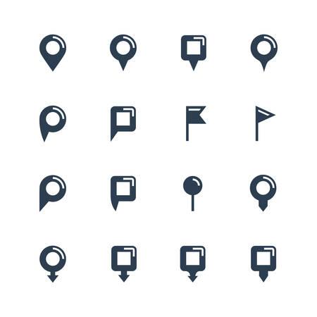 map pins: Vector map pins icon set