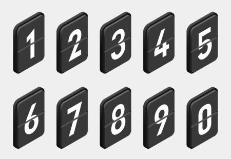 Vector flip clock, flat style