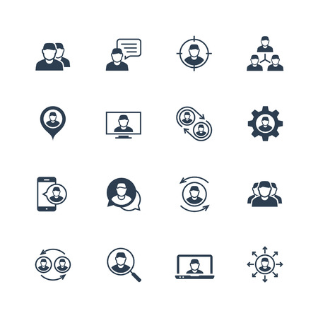 Person, people, personnel, staff related vector icon set Illustration