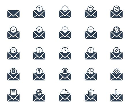 Email related vector icon set