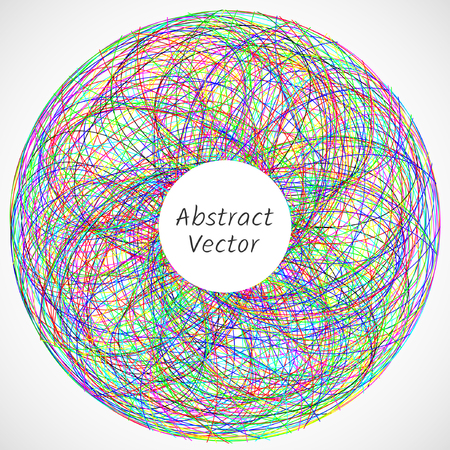 Abstract circle consisted of tangled lines Illustration
