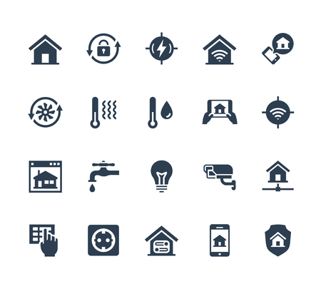 humid: Smart home related vector icon set Illustration