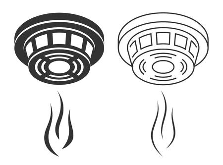 Fumée détecteur silhouette Banque d'images - 79170096