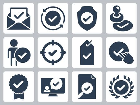 Approve, Check Mark and Confirm Icon Set