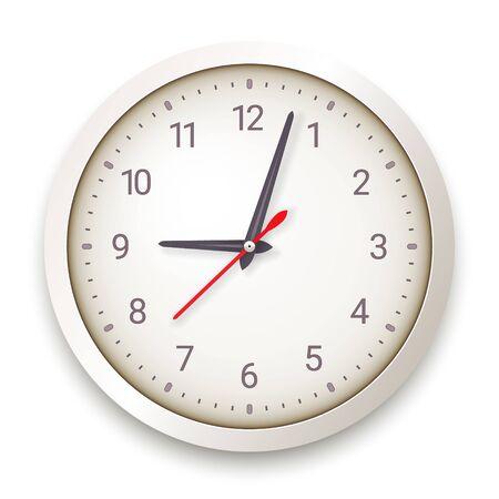 Modern Quartz Wall Clock on White Background Stock fotó - 150385473