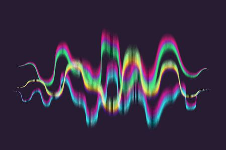 Abstract Graphic Equaliser That Looks like Aurora Borealis or Northern Lights