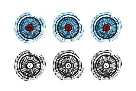 Cyber Eye or Retina Scanning System Vector Illustration