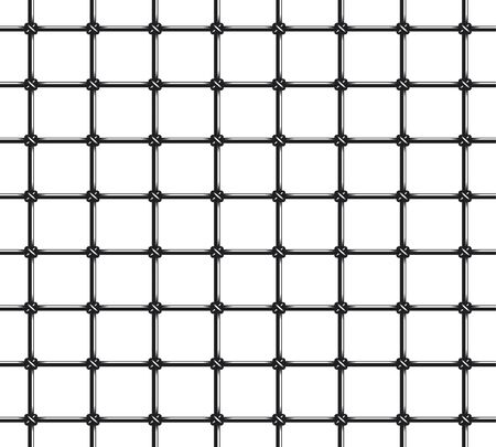 Prison Bars Seamless Pattern Over White Background