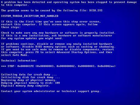 Blue screen of death BSOD. System crash error. Vector Illustration Ilustración de vector
