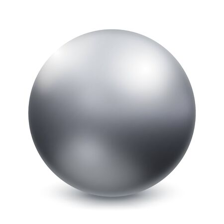 Vector Metal Chrome Ball, Sphere Over White