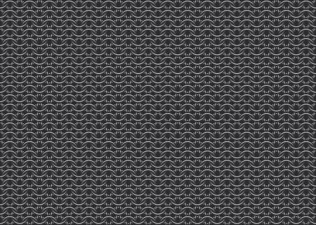 Seamless vector pattern of european '6 in 1' chain mail over dark background 일러스트