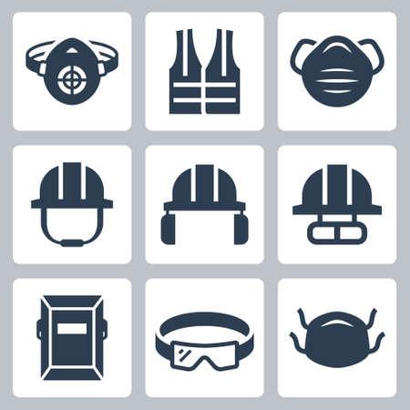 Job Safety and Protection Related Icon Set Ilustração