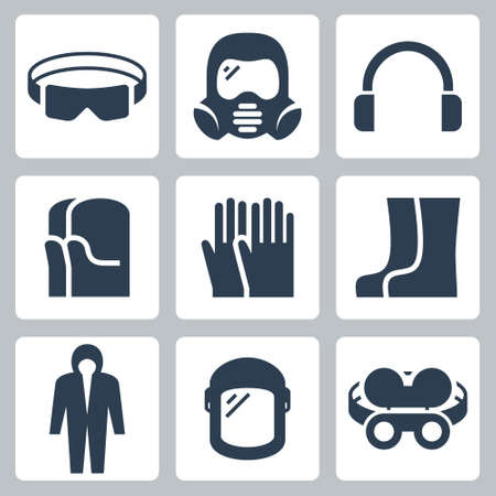 Job Safety and Protection Related Icon Set 2