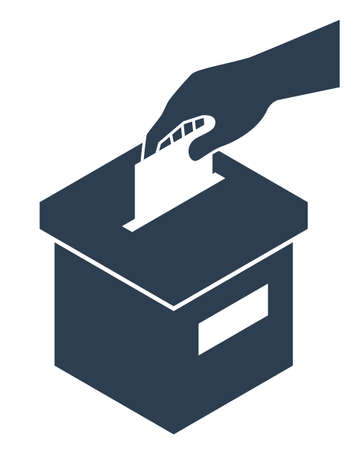 Voting Concept - Ballot-Box and Hand With a List of Paper