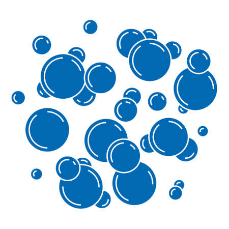 Vector Water or Soap Bubbles in Silhouettes Style