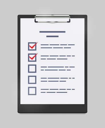 Vector Illustration of Clipboard with Checklist
