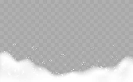 Bath Foam With Bubbles Over Checkered Background 2  イラスト・ベクター素材