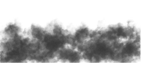 Isolated Black Halftone Fog, Mist or Smoke Overlay