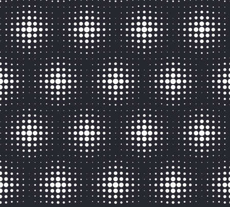 half tone: Monochrome half tone dots vector seamless background Stock Photo