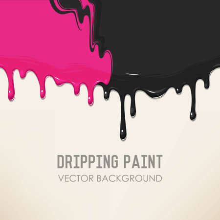 Dripping two mixed paints detailed vector background