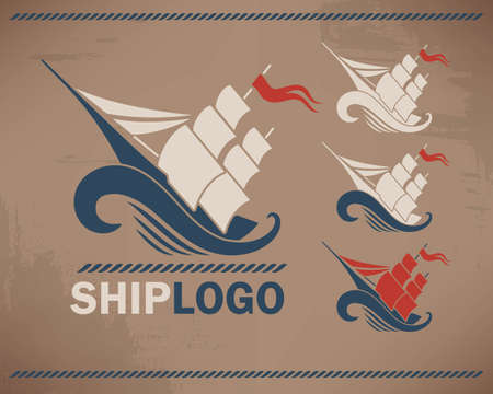 rad: Ship with rad flag on the  wave vector logotype