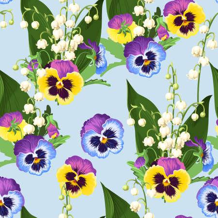 Seamless spring flowers