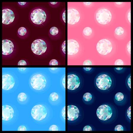 Seamless sparkling gems Illustration