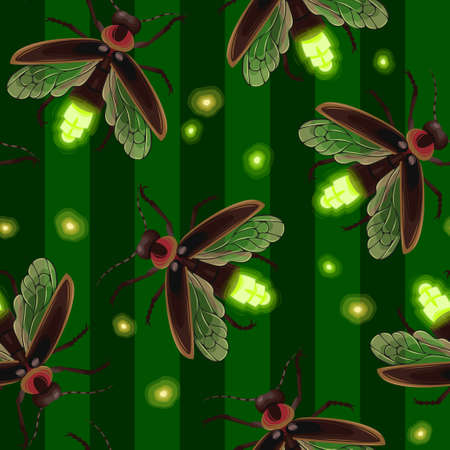 Firefly seamless vector pattern