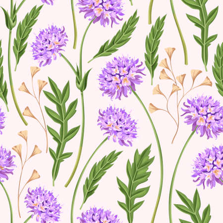 weeds: Meadow flowers seamless