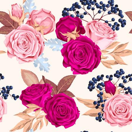 Schöne Rosen nahtlos Standard-Bild - 82753168