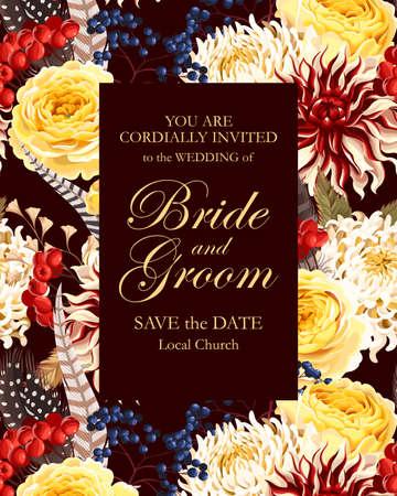 Vintage wedding invitation Çizim