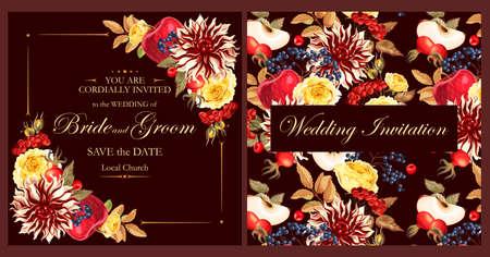 Invitation de mariage Vintage Banque d'images - 84493834