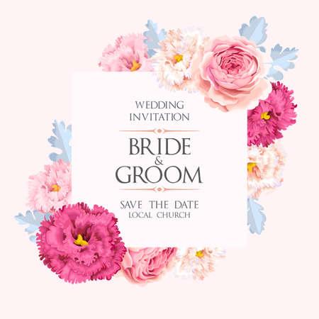 Vintage Hochzeitseinladung Standard-Bild - 85657724