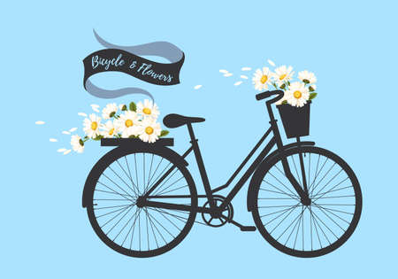 Bicycle with camomile