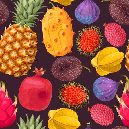 Seamless exotic fruit variants