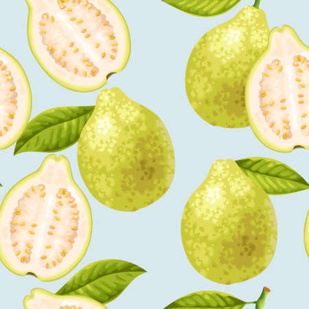 Seamless guava fruits