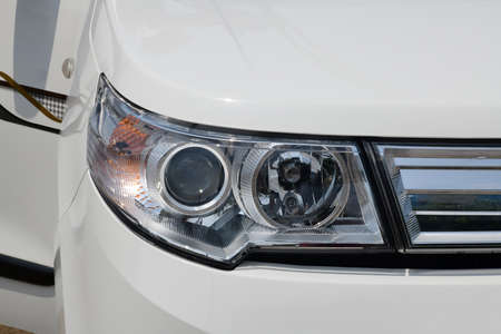 Projector type headlamps of car