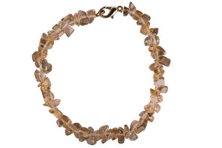 polaris: Handmade stone bracelet isolated on white