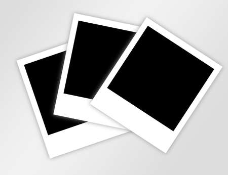 black and white photos with blur. illustration Stock Illustration - 9622809