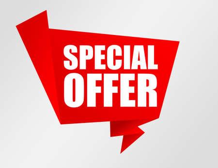 red and white special offer notice.illustration Stock Illustration - 9622813