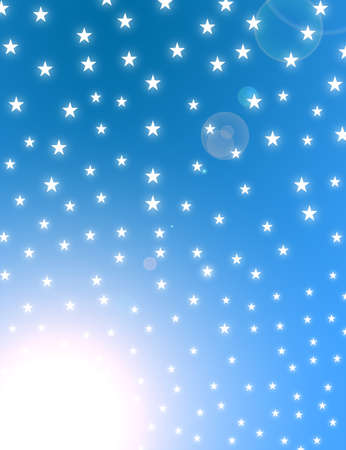 white stars on a blue background glow.illustration Stock Illustration - 9622863