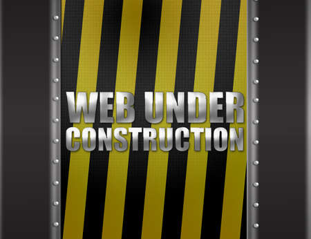 gray, yellow and black web under construction background photo