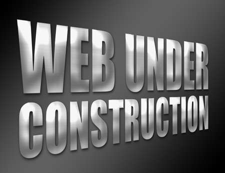 silver lyrics web under construction over black background photo