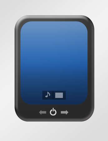 black and blue pad over gray background.illustration Stock Illustration - 9622941