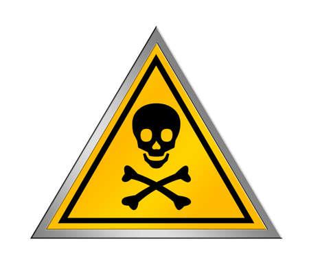 descarga electrica: firmar peligro amarillo y negro sobre fondo blanco