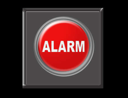 red, gray, black alarm illustration over black background Stock Illustration - 9709465