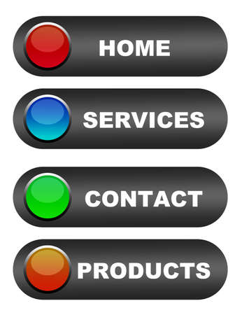 home products: black icons web over white background.illustration Stock Photo