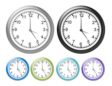 gray, black, blue and greenwatches isolated over white background Stock Photo - 9709547